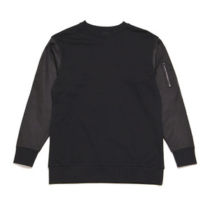 BLACK SCALE MA-1 CREWNECK I (BLACK)