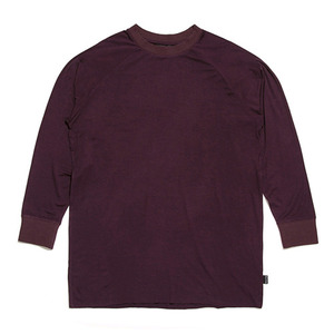 BLACK SCALE ESSENTIAL LONG SLEEVE TEE (PLUM)