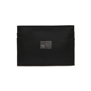 BLACK SCALE NYLON CARD WALLET (BLACK)