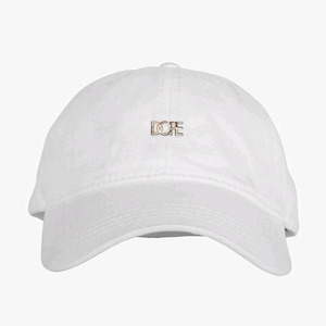 DOPE Leather Micro Logo Cap (White)