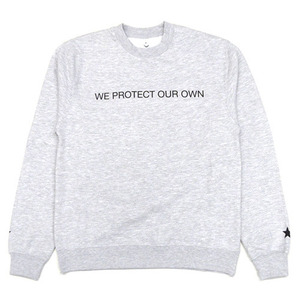 [QUICK STRIKE] BLACK SCALE WE PROTECT OUR OWN CREW NECK (GREY)