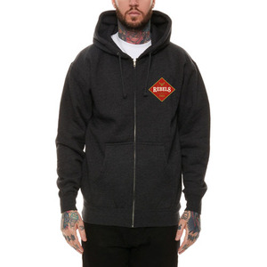 REBEL8 DRAFT ZIP-UP HOODIE (CHARCOAL HEATHER)