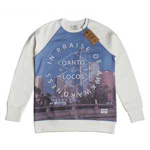 QANTO DE LOCOS DOWNTOWN_CREWNECK_WHITE