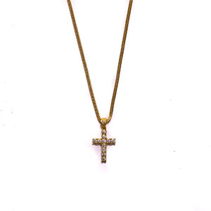 Design By TSS MINI CROSS Necklace (GOLD)