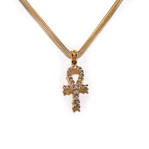 Design By TSS GOLD MINI ANKH Necklace (GOLD)