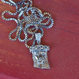Design By TSS MINI JESUS NECKLACE - SILVER
