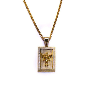 Design By TSS SQUARE ANGEL PIECE Necklace (GOLD)