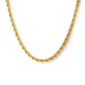 Design By TSS ROPE NECKLACE (GOLD)