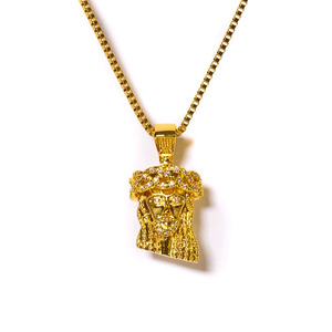 Design By TSS MINI JESUS CNC NECKLACE -  GOLD