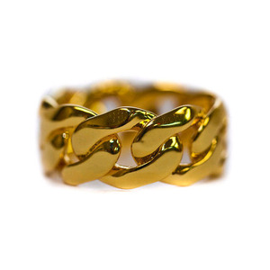 Design By TSS CUBAN LINK RING (GOLD)