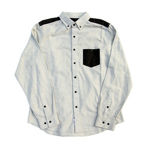 CROOKS & CASTLES Mens Woven L/s Shirt (Grey)