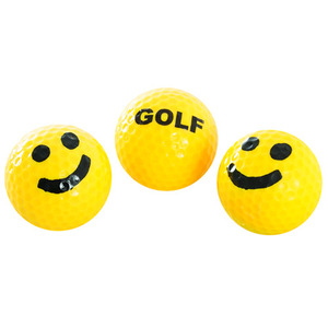 GOLF WANG SMILEY FACE GOLF BALLS YELLOW/BLACK