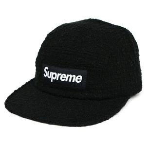 SUPREME x HARRIS TWEED BOUCLE Camp Cap (BLACK)