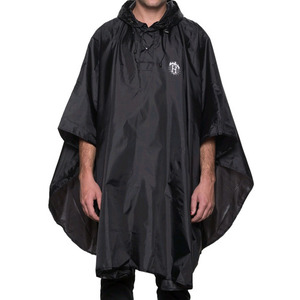 HUF x THRASHER PACKABLE PONCHO (BLACK)