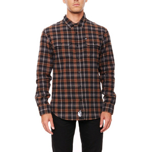 REBEL8 HARSH REALM FLANNEL (BROWN)
