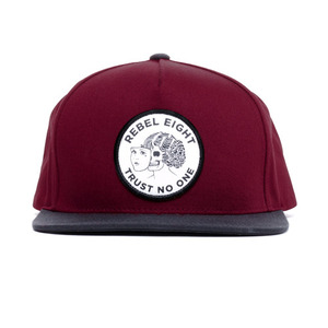 REBEL8 TWO FACED SNAPBACK (BURGUNDY)