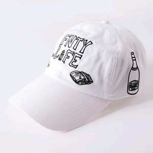 FLYING NINETY FNTY Life Snapback (WHITE)