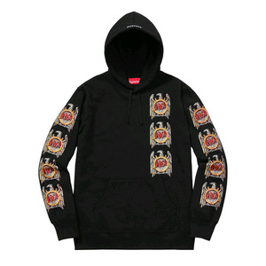 SUPREME x SLAYER Eagle Hooded Sweatshirt (BLACK)