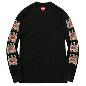 SUPREME Eagle Waffle Thermal (BLACK)
