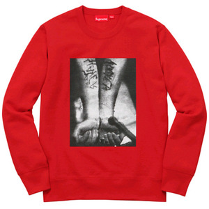 SUPREME x SLAYER Cutter Crewneck (RED)