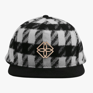 DOPE Plaid Monogram Snapback (BLACK/WHITE)