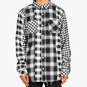 DOPE Madras Button Up (BLACK/WHITE)