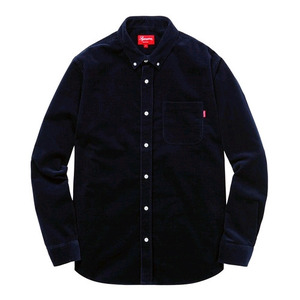 SUPREME CORDUROY SHIRT (NAVY)