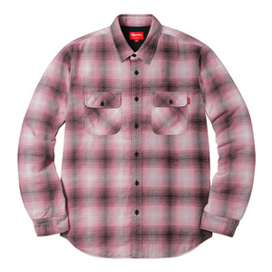 SUPREME QUILTED SHADOW PLAID SHIRT (PINK)