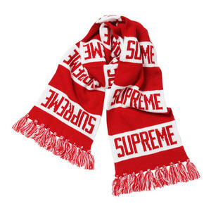 SUPREME BAR STRIPE SCARF (RED)