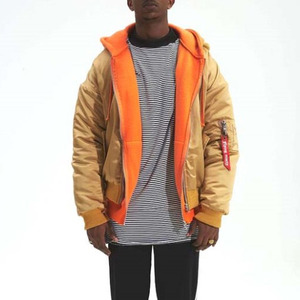 FLYING NINETY Oversize Hooded Bomber (RICH GOLD)