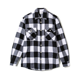 ANTI SOCIAL SOCIAL CLUB Flannel Shirt (WHTIE/BLACK)