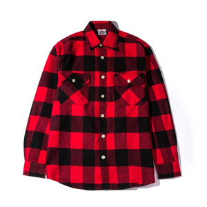 ANTI SOCIAL SOCIAL CLUB Flannel Shirt (RED/LACK)