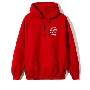 ANTI SOCIAL SOCIAL CLUB HOOD (RED)