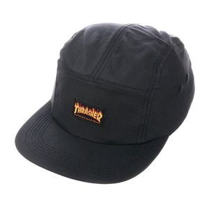 THRASHER FLAME LOGO 5-PANEL HAT (BLACK)