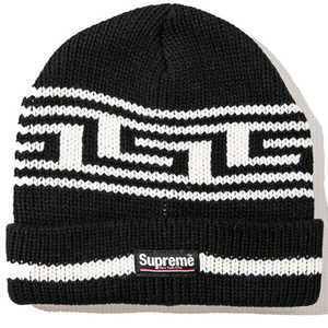 SUPREME Meandros Ragg Wool Beanie (BLACK)