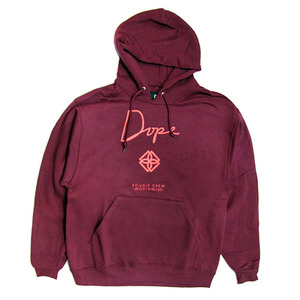 DOPE Monogram Hoodie (Burgundy/Orange)