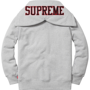 supreme split hood zip up sweat (GREY)
