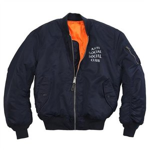 ANTISOCIALSOCIALCLUB X  ALPHA INDUSTRIES  FEEL U 4 ME MA1 JACKET