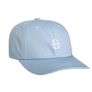 HUF CIRCLE H CURVE VISOR 6 PANEL (LIGHT BLUE)
