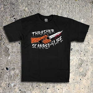 THRASHER SCARRED (BLACK)