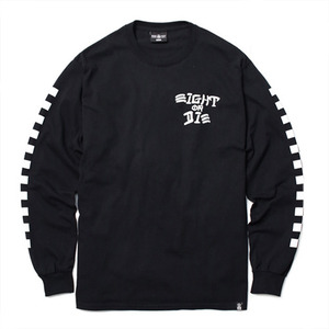 REBEL8 EIGHT OR DIE LONGSLEEVE TEE (BLACK)