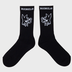 REBEL8 PROPER FUCKED SOCKS  (BLACK)