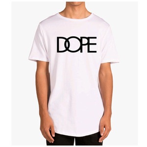 DOPE Logo Scoop Tee WHITE