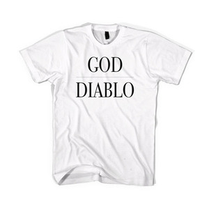 BLACKSCALE God Diablo T-Shirt, White