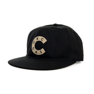 Crooks and Castles The Scramble Snapback in Black