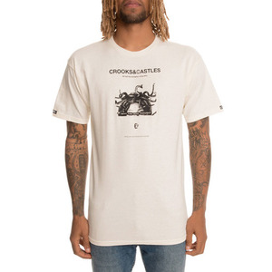 Crooks and Castles The You Mad Tee in Creme