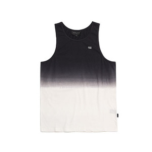 BLACKSCALE DIP DYE REBEL TANK TOP WHITE