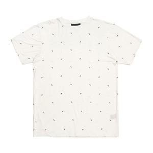 BLACKSCALE PAISLEY ESSENTIAL T-SHIRT WHITE