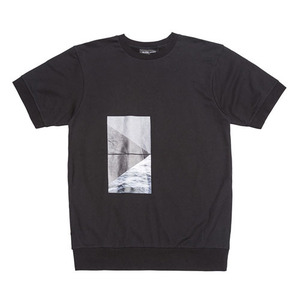 BLACKSCALE LANDSCAPE SHORT SLEEVE CREWNECK BLACK