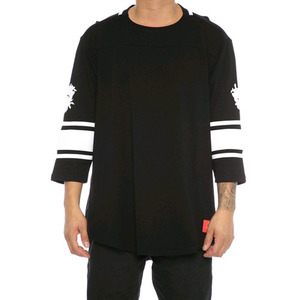 Crooks and Castles 3/4 SLV FOOTBALL JERSEY TOECUTTER BLACK